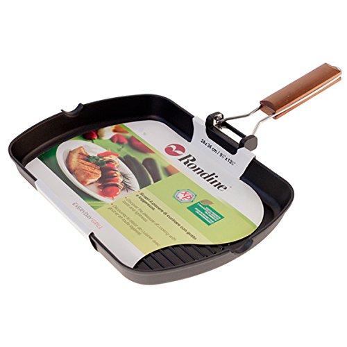 Bialetti 0EDGR004 - Sartén grill (fundición), aluminio (24 cm x 34 cm): Amazon.es: Hogar