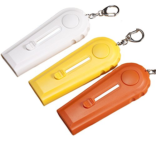 Mural Art 3 Pcs Fun Cap Zappa Beer Bottle Opener Bottle Cap Launcher Shooter with Keychains, White Yellow - You Pay Bottle Opener