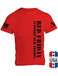American Warrior Mens RED Friday T-Shirt