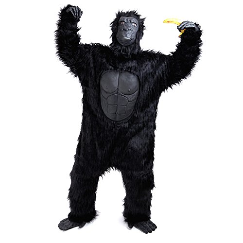 Charm Rainbow Men's Gorilla Costume Deluxe Suit (Plus Size) Black -