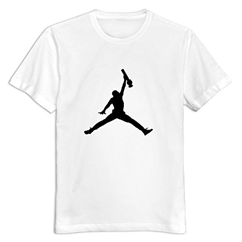 Jordan Logo With Bong As an alternative Of Ball Short-Sleeve T-shirt For Man White XXL New Arrival T Shirt