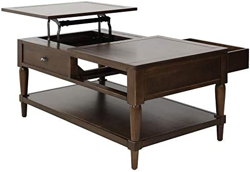 Henf Lift Top Coffee Table,Wood Home Living Room Modern Lift Top Storage Coffee Table