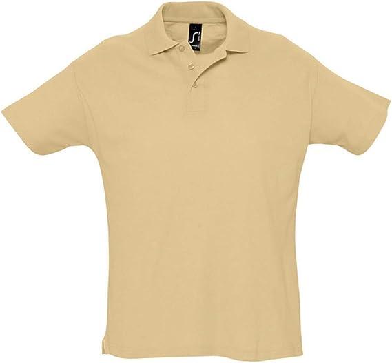 SOLS - Polo de manga corta liso para caballero/hombre 100% algodón ...