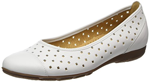 Gabor Ladies Fashion Chiuso Ballerine Bianche (bianco 21)