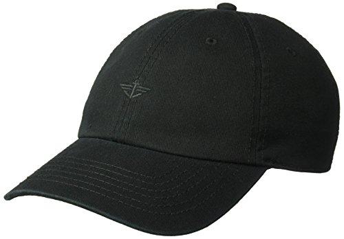 Dockers Men's Core Tonal Embroidered Logo Dad Baseball Hat, Black/Black, One Size