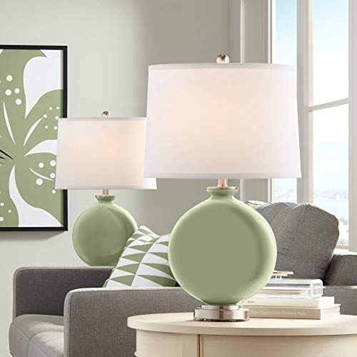 (Majolica Green Carrie Table Lamp Set of 2 - Color + Plus)
