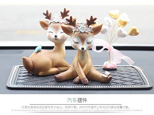 Youfui Cake Topper Party Supplies Cake Decoration for Girls, Birthday Party, Baby Shower & Wedding Home Decor Car Interior Decoration (4pcs Deers Eden) by Youfui (Image #2)
