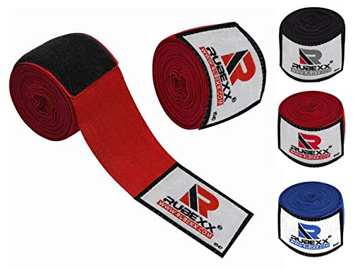 "Hand wraps boxing Inner Gloves for Punching - Great Protection for MMA, Muay Thai, Kickboxing, Martial Arts Training & Combat Sports – 180 "" inch Elasticated Bandages Under Mitts (Red, Red-180-inch)"