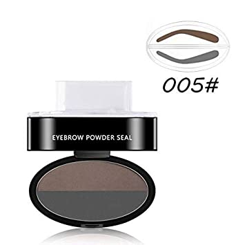 Eyebrow Enhancers Eyebrow Stamp Seal Palette Set Two Color Shadow Powder Waterproof Eye Brow Stamp Powder Natural Shape Eyebrows Powder Palette Beauty Essentials