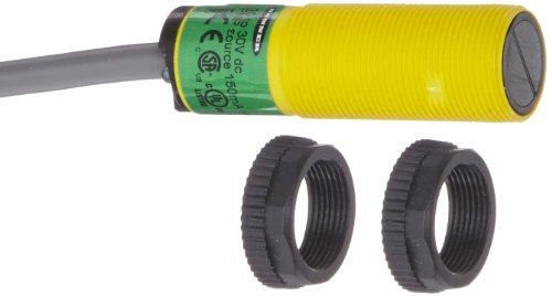 Banner S18SP6D EZ Beam Barrel-Style Sensor, Diffuse Sensing Mode, 2 m PVC 4-Wire Cable, Infrared LED, 10-30 VDC Supply Voltage, PNP Output, 100 mm Sensing Range by Banner (Image #1)