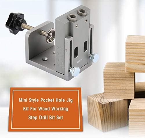 Pocket Hole Jig Kit System Carpenters Wood Guides Joint Angle Tool for Woodworking Tools and Accessories