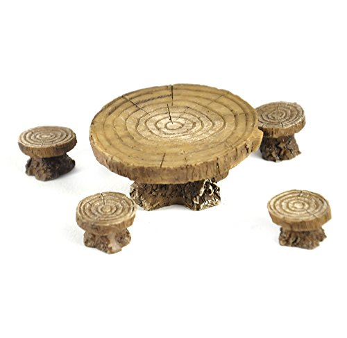 Cheap Georgetown Woodland Table and Stool Set – Fiddlehead Fairy Garden Collection