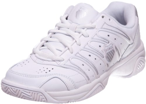 K-Swiss Women's Grancourt II Tennis Shoe,White/Silver,8 M by K-Swiss