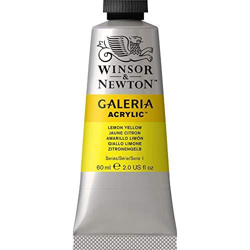Winsor & Newton Galeria Acrylic Paint, 60ml Tube, Lemon Yellow