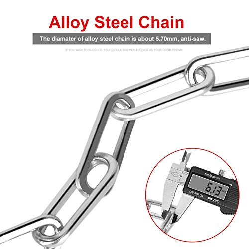 sahnah Long Safty Chain Lock 90cm For Bike Anti-Theft Steel Password Code Motorcycle Lock Cycling Electric Bicycle Accoessories