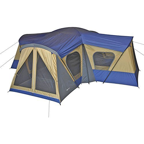Family Cabin Tent 14 Person Base Camp 4 Rooms Hiking Camping Shelter Outdoor by Ozark Trail