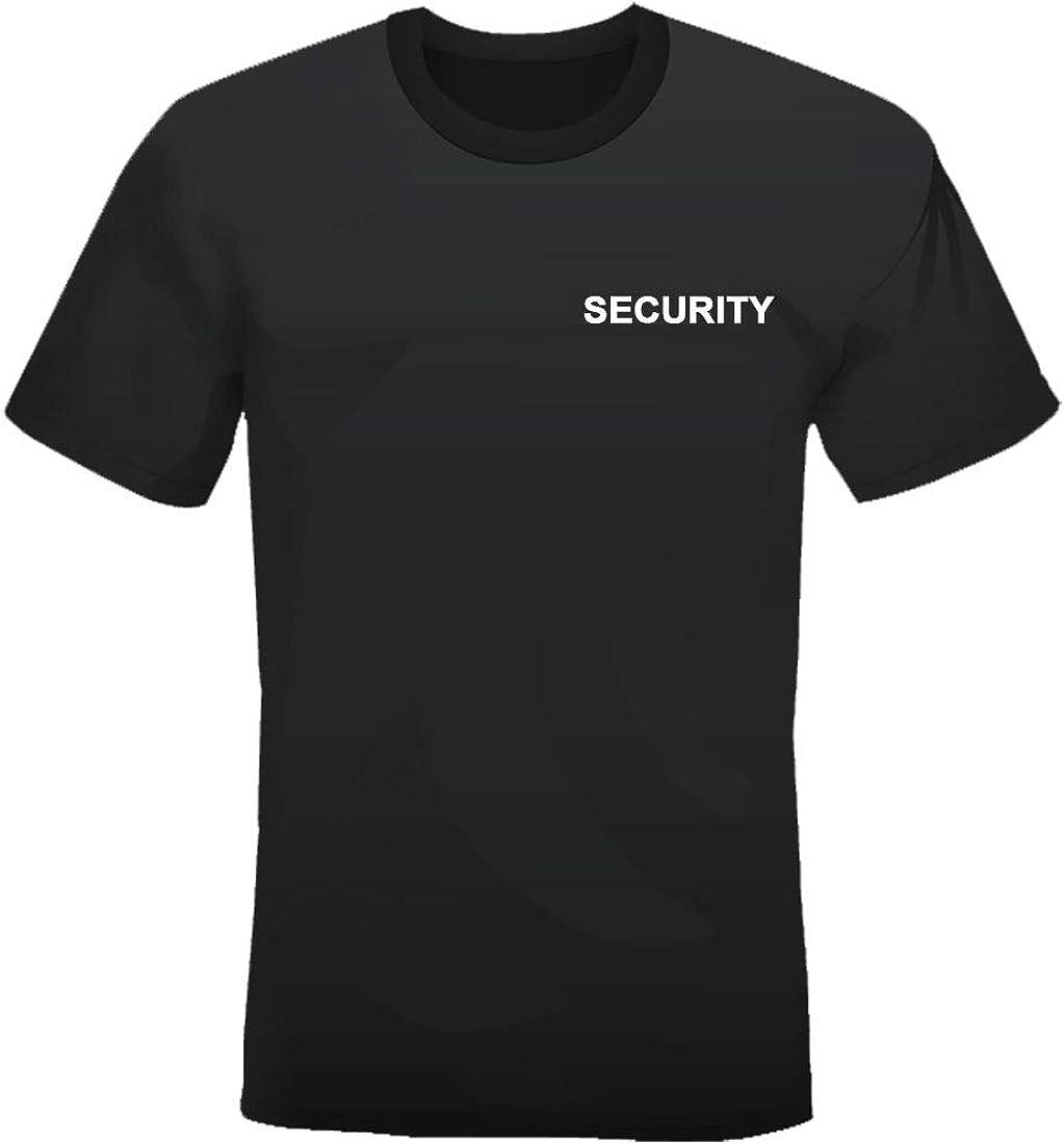 Maglia Sicurezza Maglietta 100/% Cotone T-Shirt con Stampa Security su Fronte e Retro
