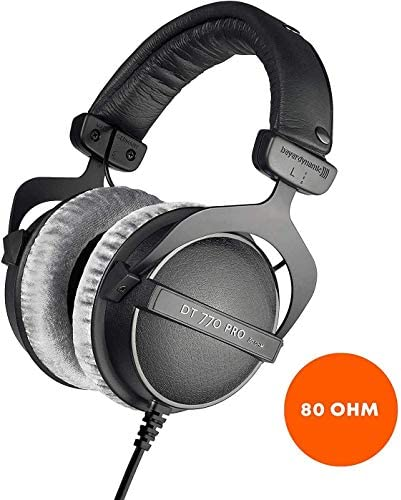 Beyerdynamic DT 770 Pro 80 Ohm Closed-Back Studio Mixing Headphones -Includes- Soft Case, Splitter, 6Ave Cleaning Cloth, and 1-Year Extended Warranty