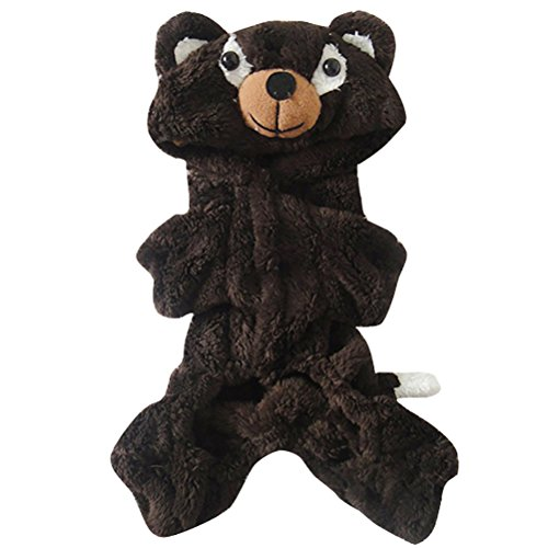 [Woo Woo Pets Little Cute Brown Bear Wram Pet Costume Coffee XL] (Bear Dog Costume)