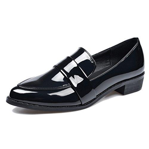 Meeshine+Women%27s+Classic%C2%A0Penny+Loafer+Slip-on+Fashion+Shoes%288+B%28M%29+US%2CBlack%29