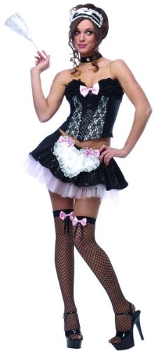 Sexy Hallween Costumes (Naughty French Maid Sexy Costume)