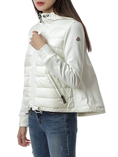 Wiberlux Moncler Women's Padded Panel Hooded Zip-Up Jacket XS Ivory by Wiberlux (Image #3)
