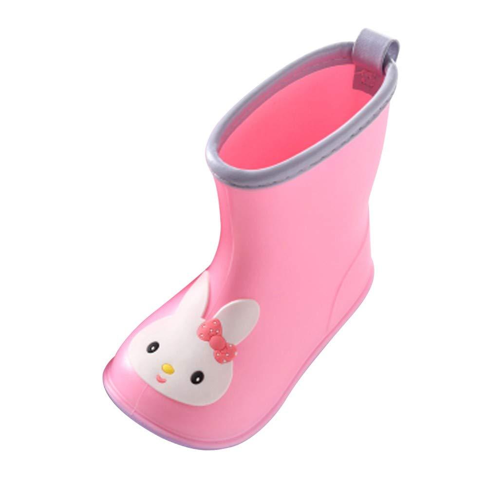 Wenini Children Kids Duck Rain Shoes Cartoon Rubber Waterproof Warm Boots Rain Shoes
