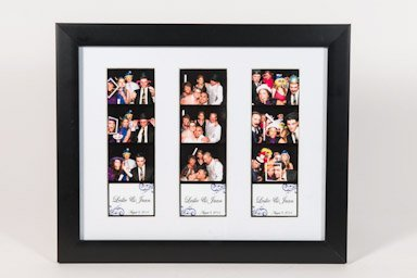 8 x 10 Photo frame with mat for three photo booth pictures black 8x10 photo booth frame 3 (Photo Booth Photo Frame)