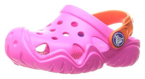 Crocs Kids' Swiftwater Clog K, Neon Magenta/Tangerine, 10 M US Toddler