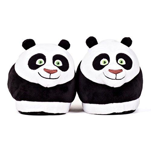 Sleeperz Chaussons peluche Po - Kung Fu Panda - Homme Femme Enfant - Original Confortable Chaud Antidérapant - Officiel DreamWorks