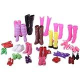Modische 25 Paar verschiedene Schuhe für Puppe