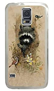 Children's Wee Raccoon Custom Samsung Galaxy S5/Samsung S5 Case Cover Polycarbonate Transparent