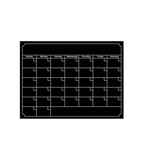 (Reusable Magnetic Dry Erase Calendar Weekly Monthly Planner Board Fridge Schedule Magnet Sticker)