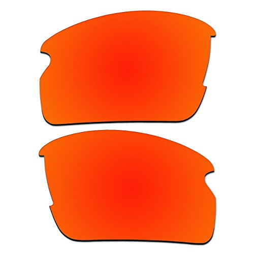Replacement Fire Red Polarized Lenses for Oakley Flak 2.0 - Polarized Jacket Flak 2.0