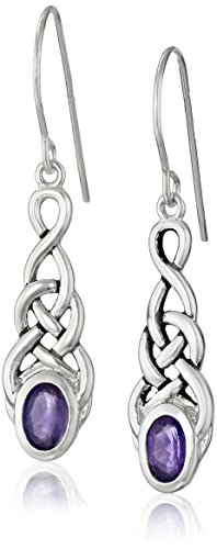 Sterling Silver Celtic Linear Earrings