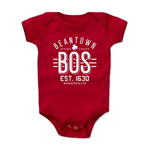 Boston Baby Clothes, Onesie, Creeper, Bodysuit - 12-18 Months Red - Boston Massachusetts Beantown WHT