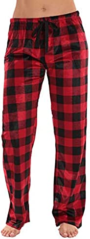 #followme Buffalo Plaid Flannel Pajama Pants for Women with Pockets