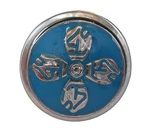 Button click de botón de presión para sistema de correa & cadena azul claro de diámetro 18 mm
