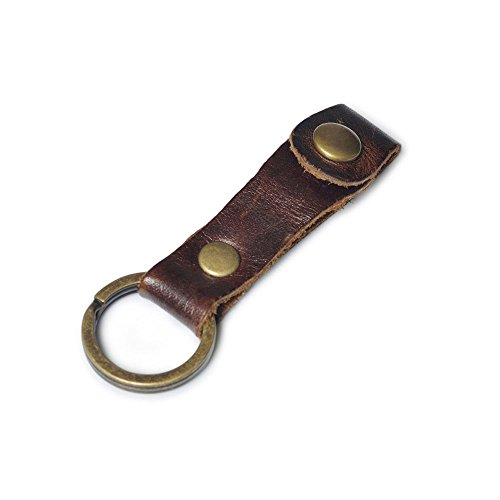 Caillu Leather Key Chain, Oil Wax Coffee
