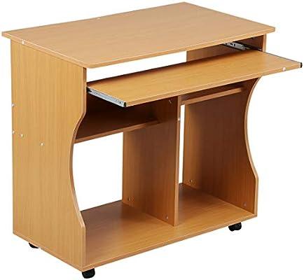 Escritorio de madera para ordenador, estación de trabajo, estudio ...