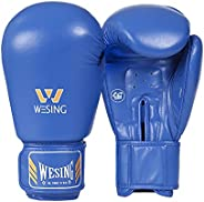WESING AIBA Approved Leather Boxing Gloves Punch Boxing Mitts