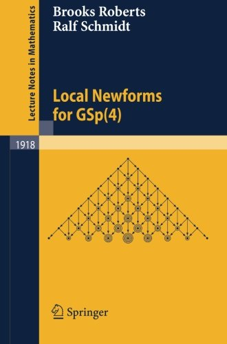 Local Newforms for GSp(4) (Lecture Notes