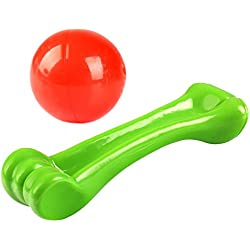 Durable Chew Toys for Aggressive Chewers Dog Toy Set Tough Dog Toys Dog Bone and Dog Ball