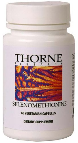 Thorne Research Sélénométhionine, 60 Vegetarian Capsules