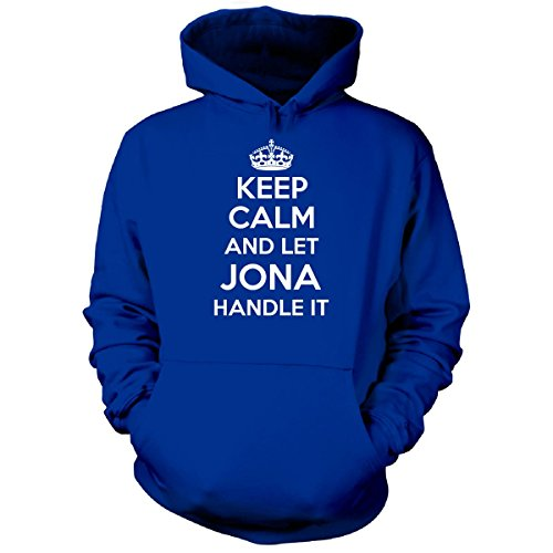 Keep Calm And Let Jona Handle It Cool Gift - Hoodie Royal - Hoodie Brothers Jonas