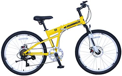 Upten Unisex Adult Hummer Mechanical Disc Bicycle Yellow 24