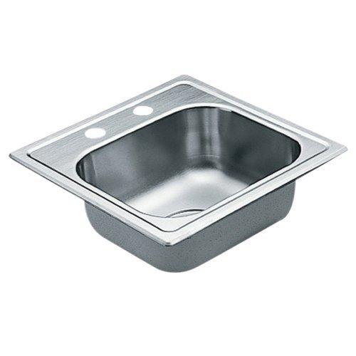 2200 Series 22 Gauge Single Bowl Drop In Sink, 15 x 15, Stainless Steel (G2245622)
