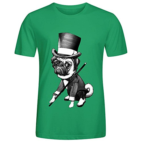 ashome-pug-fred-astaire-black-tee-shirts-for-men-o-neck-green