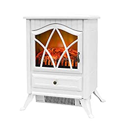 Bathonly Electric Fireplace Free Standing Fireplace Heater Plastic