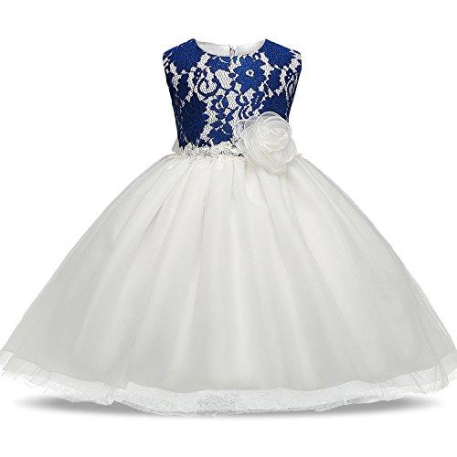 NNJXD Girl Tutu Chiffon Flower Vintage Princess Party - Vintage Pageant Dress